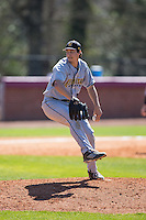 Kennesaw State Owls relief pitcher Mason Ward (22) in action against the Winthrop Eagles at the Winthrop Ballpark on March 15, 2015 in Rock Hill, South Carolina.  The Eagles defeated the Owls 11-4.  (Brian Westerholt/Four Seam Images)