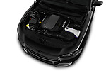 Car stock 2017 Dodge Charger R/T 4 Door Sedan engine high angle detail view