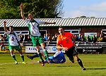 Danny Lloyd of AFC Fylde scores what would have been an equliser, before seeing the linesman flagging for offside. Vanarama National League North, Promotion Final, North Ferriby United v AFC Fylde, 14th May 2016.