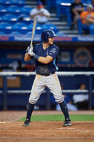 Charlotte Stone Crabs third baseman Kevin Padlo (11) at bat during the first game of a doubleheader against the St. Lucie Mets on April 24, 2018 at First Data Field in Port St. Lucie, Florida.  St. Lucie defeated Charlotte 5-3.  (Mike Janes/Four Seam Images)