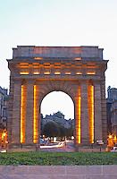 Porte Bourgogne or des Salinieres. Bordeaux city, Aquitaine, Gironde, France