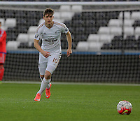 Pictured: Adnan Maric of Swansea Monday 04 April 2016<br />