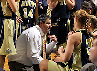 Nov. 14, 2010; Charlottesville, VA, USA;  Mount St. Mary's head coach Bryan Whitten talks with his players during the game against the Virginia Cavaliers at the John Paul Jones Arena. Virginia won 81-58.  Mandatory Credit: Andrew Shurtleff-