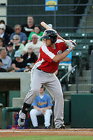 Salem Red Sox infielder Travis Shaw #21 at bat during a game against the Myrtle Beach Pelicans at Tickerreturn.com Field at Pelicans Ballpark on May 11, 2012 in Myrtle Beach, South Carolina. Salem defeated Myrtle Beach by the score of 5-3 in 14 innings. (Robert Gurganus/Four Seam Images)