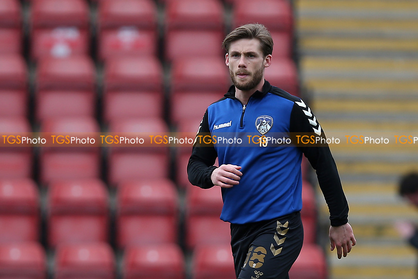 Conor McAleny of Oldham Athletic during Leyton Orient vs Oldham Athletic, Sky Bet EFL League 2 Football at The Breyer Group Stadium on 27th March 2021