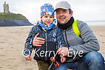 Kajedan Lipski with his dad Marcin Lipski enjoying a stroll in Ballybunion on Friday.
