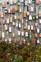 Lobster buoys, Maine, USA.