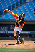 Jack Holman (19) of Etiwanda High School in Wrightwood, CA during the Perfect Game National Showcase at Hoover Metropolitan Stadium on June 19, 2020 in Hoover, Alabama. (Mike Janes/Four Seam Images)