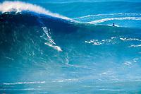 surfer, Sebastian Steudtner, riding a big wave, Praia do Norte, Nazaré, Portugal, Atlantic Ocean