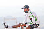 White Jersey Egan Bernal (COL) Ineos Grenadiers chills at the end of Stage 14 of La Vuelta d'Espana 2021, running 165.7km from Don Benito to Pico Villuercas, Spain. 28th August 2021.     <br /> Picture: Luis Angel Gomez/Photogomezsport   Cyclefile<br /> <br /> All photos usage must carry mandatory copyright credit (© Cyclefile   Luis Angel Gomez/Photogomezsport)