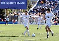 Michael Nanchoff #9 and Chris Korb #16 of the University of Akron during the 2010 College Cup final against the University of Louisville at Harder Stadium, on December 12 2010, in Santa Barbara, California.Akron champions, 1-0.