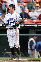 Buffalo Bisons second baseman Chin-lung Hu #2 after a strike out during a game against the Charlotte Knights at Dunn Tire Park on May 22, 2011 in Buffalo, New York.  Buffalo defeated Charlotte by the score of 7-5.  Photo By Mike Janes/Four Seam Images