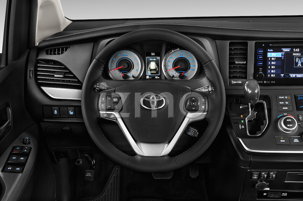 Car pictures of steering wheel view of a 2017 Toyota Sienna SE 5 Door Minivan Steering Wheel