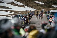 (almost) last riders descending the Umbrailpass (Alt: 2502m)<br /> <br /> Stage 16: Rovett › Bormio (222km)<br /> 100th Giro d'Italia 2017