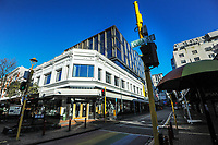 Cuba Street, Wellington CBD, at 8.30am, Wednesday during Level 4 lockdown for the COVID-19 pandemic in Wellington, New Zealand on Thursday, 19 August 2021.
