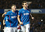 Fraser Aird with goalscorer Lee McCulloch