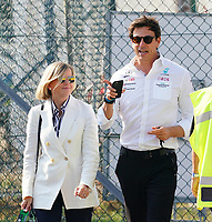 12th September, September 2021; Nationale di Monza, Monza, Italy; FIA Formula 1 Grand Prix of Italy, Race day;  team boss and managing director Toto Wolff Mercedes AMG Petronas F1 Team with wife Susie