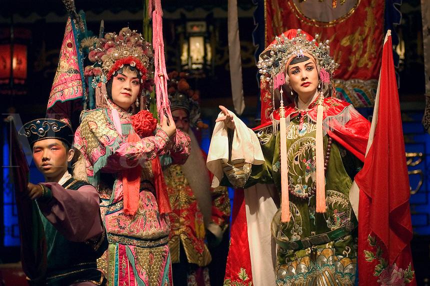 Chinese Opera stars preform - Chengdu, China in Sichuan Province