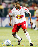 NY Red Bull midfielder, Dane Richards(19) advances the ball up the field during the 2nd half. Chivas USA  took on the NY Red Bulls on June 28, 2008 at the Home Depot Center in Carson, CA. The game ended in a 1-1 tie.