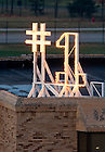 Nov. 18, 2012; Number one sign on top of Grace Hall...Photo by Matt Cashore/University of Notre Dame