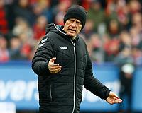 Christian STREICH, Trainer SCF, Halbkoerper, Coachingzone,    Fussball, 1. Bundesliga  2017/2018<br /> <br />  <br /> Football: Germany, 1. Bundesliga, SC Freiburg vs Bayer 04 Leverkusen, Freiburg, 03.02.2018 *** Local Caption *** © pixathlon<br /> Contact: +49-40-22 63 02 60 , info@pixathlon.de