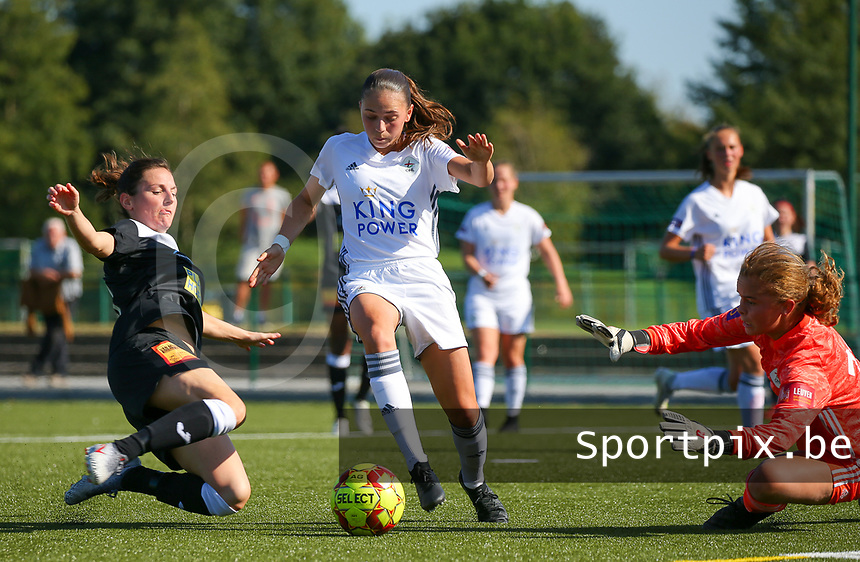 20190921 – LEUVEN, BELGIUM : OHL's  E. Aalst's pictured during a women soccer game between  Oud Heverlee Leuven Ladies B and Eendracht Aalst Ladies on the fourth matchday of the Belgian Division 1 season 2019-2020, the Belgian women's football  national division 1, Saturday 21th September 2019 at the Bruinveld Youth Complex, Domeinstraat in Leuven , Belgium. PHOTO SPORTPIX.BE | SEVIL OKTEM