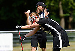GER - Hannover, Germany, May 30: During the Women Lacrosse Playoffs 2015 match between DHC Hannover (black) and SC Frankfurt 1880 (red) on May 30, 2015 at Deutscher Hockey-Club Hannover e.V. in Hannover, Germany. Final score 23:3. (Photo by Dirk Markgraf / www.265-images.com) *** Local caption *** Rahel Bertram #19 of DHC Hannover