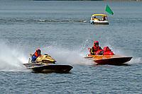 Lloyd Halsey, N-160 ?Mai Tai? (Lloyd 225 class hydroplane), Butch Strutz, N-97 Gee Bee II (1959 Sooy 225 class hydro)