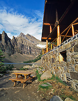 Teahouse at Agnes Lake. Banff National Park, Canada