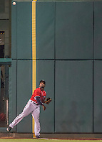 6 August 2016: Washington Nationals outfielder Brian Goodwin makes his major league debut replacing Bryce Harper in right field during a game against the San Francisco Giants at Nationals Park in Washington, DC. The Giants defeated the Nationals 7-1 to even their series at one game apiece. Mandatory Credit: Ed Wolfstein Photo *** RAW (NEF) Image File Available ***