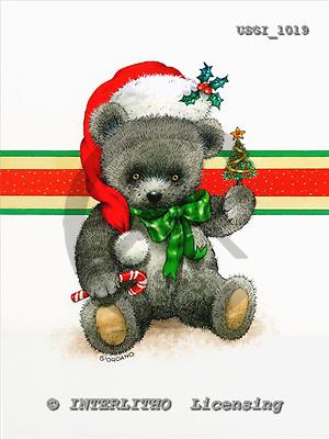 GIORDANO, CHRISTMAS ANIMALS, WEIHNACHTEN TIERE, NAVIDAD ANIMALES, Teddies, paintings+++++,USGI1019,#XA#