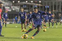 FORT LAUDERDALE, FL - DECEMBER 09: Julian Araujo #2 of the United States during a game between El Salvador and USMNT at Inter Miami CF Stadium on December 09, 2020 in Fort Lauderdale, Florida.