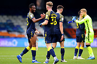 17th October 2020; Kenilworth Road, Luton, Bedfordshire, England; English Football League Championship Football, Luton Town versus Stoke City; Mikel John Obi of Stoke City celebrates the 0-2 win with Nathan Collins