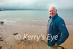 Kevin Williams on the beach in Fenit, who got stung by jellyfish larvae and is warning swimmers to be vigilant