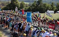 Daniel Martin (IRL/UAE) breaking free from he bunch / attacking with 500m to go<br /> <br /> Stage 6: Brest > Mûr de Bretagne / Guerlédan (181km)<br /> <br /> 105th Tour de France 2018<br /> ©kramon