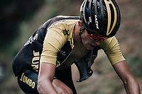 George Bennett (NZL/LottoNL-Jumbo) up the Mur de Péguère (Cat1/1375m/9.3km/7.9%)<br /> <br /> 104th Tour de France 2017<br /> Stage 13 - Saint-Girons › Foix (100km)