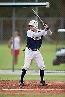 Michael Bello (18) during the WWBA World Championship at the Roger Dean Complex on October 11, 2019 in Jupiter, Florida.  Michael Bello attends Pope John XXIII High School in Oak Ridge, NJ and is committed to Auburn.  (Mike Janes/Four Seam Images)