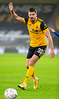8th January 2021; Molineux Stadium, Wolverhampton, West Midlands, England; English FA Cup Football, Wolverhampton Wanderers versus Crystal Palace; Leander Dendoncker of Wolverhampton Wanderers raises his arm and calls for off side