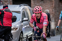 Alberto Bettiol (ITA/EF Education - Nippo) returning to the team bus post-race <br /> <br /> 15th Strade Bianche 2021<br /> ME (1.UWT)<br /> 1 day race from Siena to Siena (ITA/184km)<br /> <br /> ©kramon