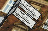 Poland, Krakow, Street signs, Kazimierz