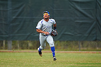 Seton Hall Pirates center fielder Derek Jenkins (6) gets under a fly ball during a game against the Indiana Hoosiers on March 5, 2016 at North Charlotte Regional Park in Port Charlotte, Florida.  Seton Hall defeated Indiana 6-4.  (Mike Janes/Four Seam Images)