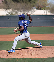 Yeison Cespedes - Los Angeles Dodgers 2019 spring training (Bill Mitchell)
