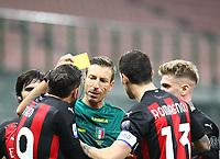 Milano 03-03-2021<br /> Stadio Giuseppe Meazza<br /> Serie A  Tim 2020/21<br /> Milan - Udinese<br /> nella foto:  Giallo per Theo Hernandez                                                        <br /> Antonio Saia