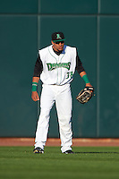Dayton Dragons outfielder Jonathan Reynoso (38) during a game against the Great Lakes Loons on May 21, 2015 at Fifth Third Field in Dayton, Ohio.  Great Lakes defeated Dayton 4-3.  (Mike Janes/Four Seam Images)