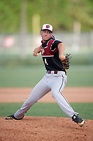 Owen White (4) while playing for South Charlotte Panthers 2018 based out of Charlotte, North Carolina during the WWBA World Championship at the Roger Dean Complex on October 21, 2017 in Jupiter, Florida.  Owen White is a pitcher from Mt. Ulla, North Carolina who attends Jesse C. Carson High School.  (Mike Janes/Four Seam Images)