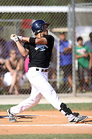 Isan Diaz, #11 of Springfield Central High School, MA playing for the Syracuse Sports Zone Team the WWBA World Championship 2013 at the Roger Dean Complex on October 26, 2013 in Jupiter, Florida. (Stacy Jo Grant/Four Seam Images)