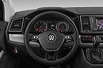 Car pictures of steering wheel view of a 2019 Volkswagen Caravelle Highline 4 Door Passenger Van