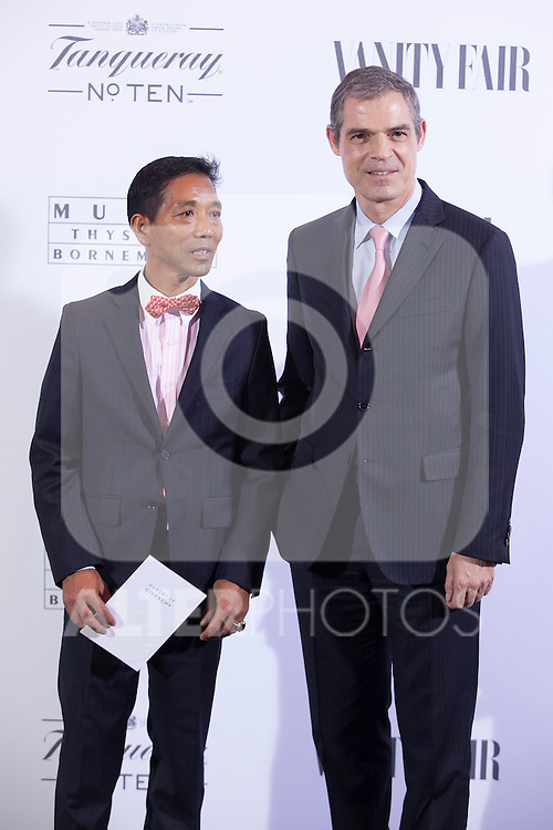 Jerome Bonnafont (R) poses during the 'HUBERT DE GIVENCHY' exhibition inauguration at THYSSEN-BORNEMISZA museum in Madrid, Spain. October 20, 2014. (ALTERPHOTOS/Victor Blanco)