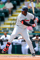 Fort Myers Miracle first baseman Kennys Vargas #35 during a game against the Bradenton Marauders at McKechnie Field on April 7, 2013 in Bradenton, Florida.  Fort Myers defeated Bradenton 9-8 in ten innings.  (Mike Janes/Four Seam Images)