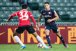 Thomas Lam of SC Kitchee (r) in action during the 2017 Lunar New Year Cup match between SC Kitchee (HKG) vs Muangthong United (THA) on January 28, 2017 in Hong Kong, Hong Kong. Photo by Marcio Rodrigo Machado/Power Sport Images